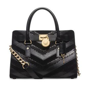 Michael Michael Kors Hamilton Mixed Media Satchel